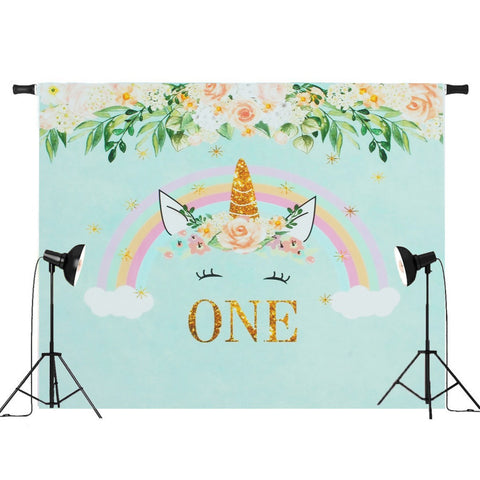 Unicorn Backdrop (Flower Design)