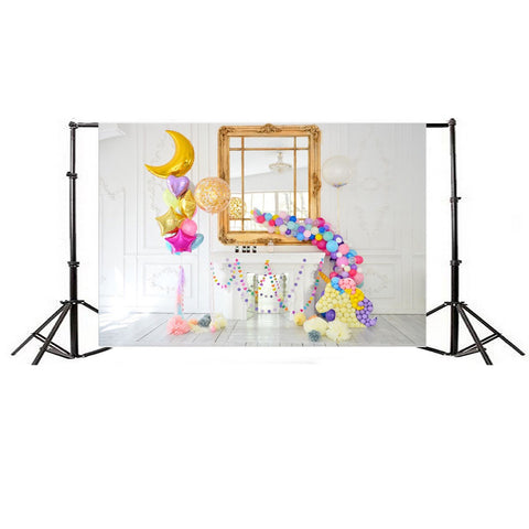 Unicorn Backdrop (Balloon Design)