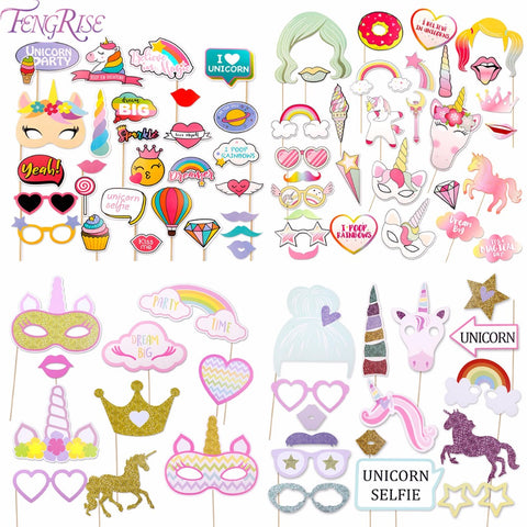 Unicorn Photo Booth Props (10/16/28/30pcs)
