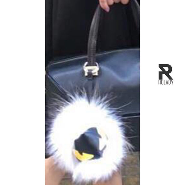 Rolady  Cute Fur Charms Furry Bag Accessories
