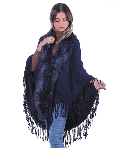 Margo Fur Fringy Cape