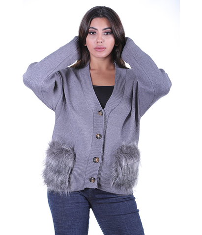 Thea Fur Pocket Jacket