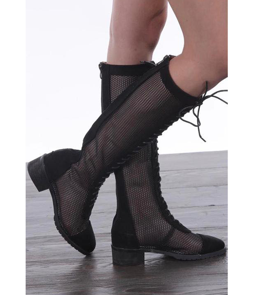 Janet Net High-Knee Boots
