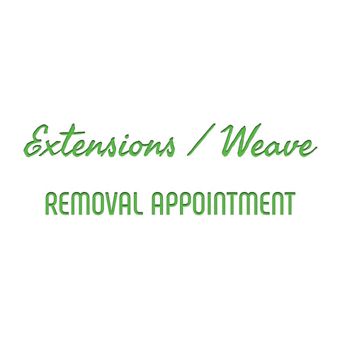 Extensions / Weaving - Removal (Deposit Only)