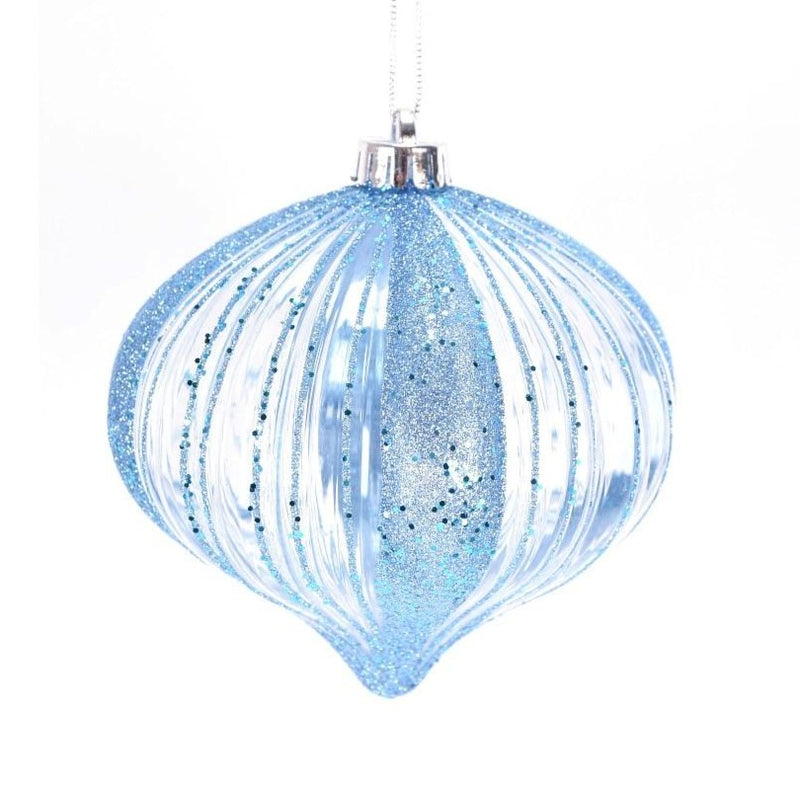 Iridescent Blue Onion Ornament