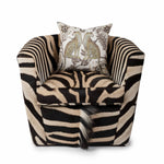Zebra Hide Tub Chair