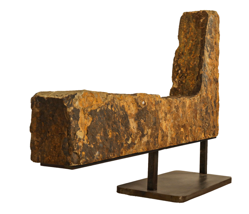 Ozark Stone Chair Steel Base