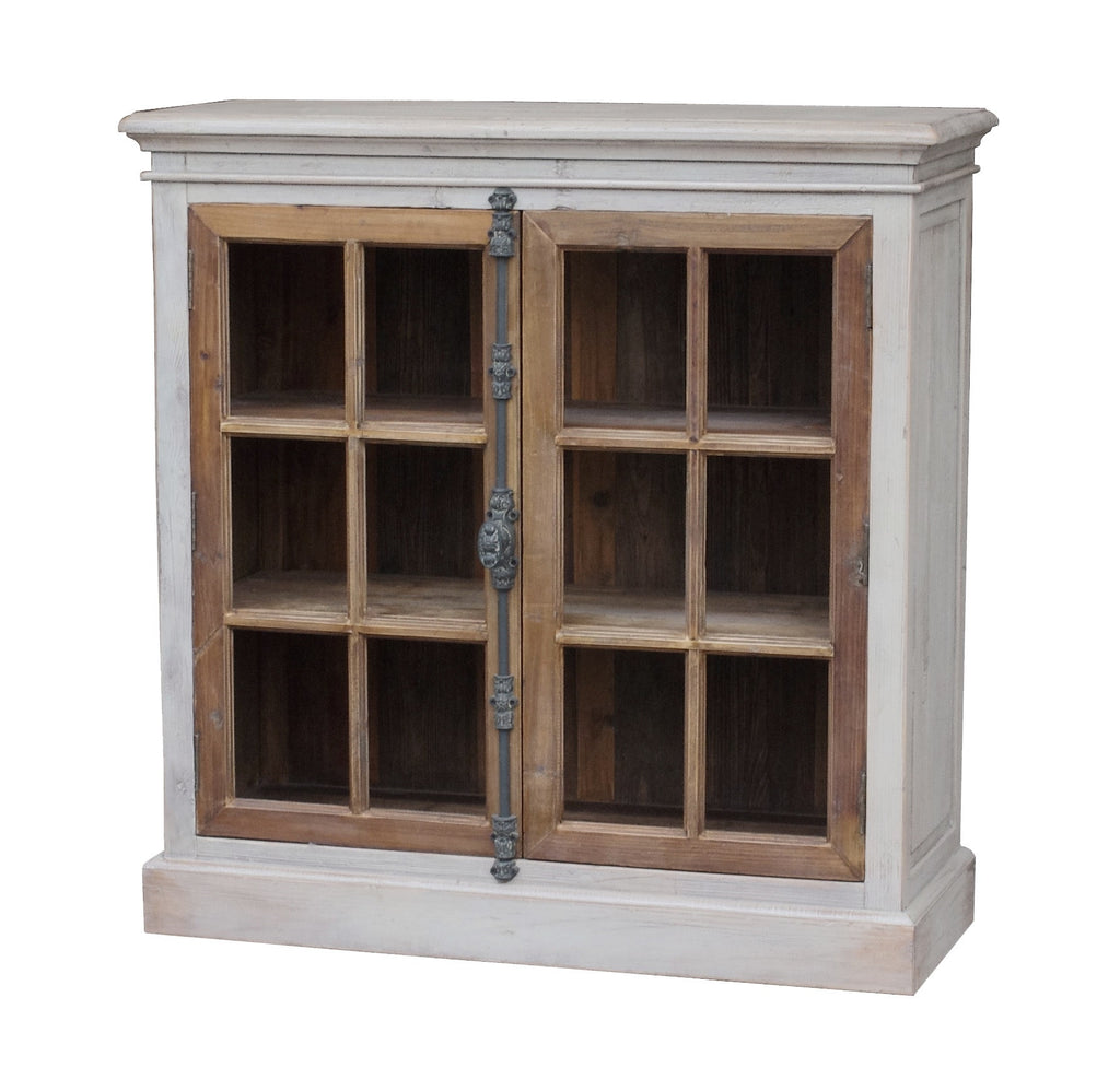 Monica White Distressed 2 Door Cabinet - Paul Michael Company