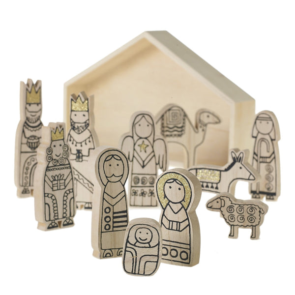 Wooden Child's Nativity