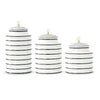 Ceramic Swirl Canisters with Crystal Knob Set of 3
