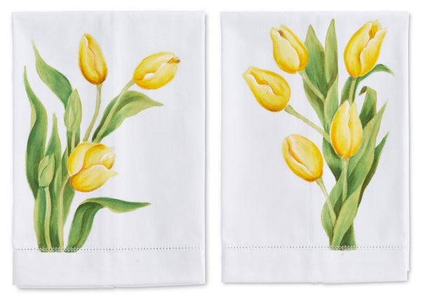 Yellow Tulip Guest Towel