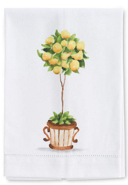 Lemon Topiary Guest Towel