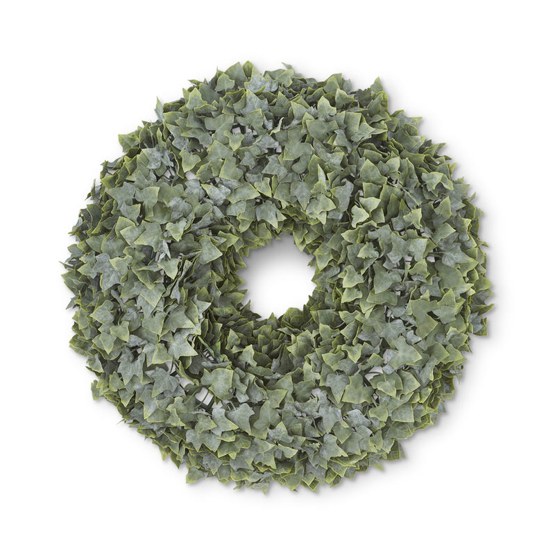 English Ivy Wreath Real Touch Powdered