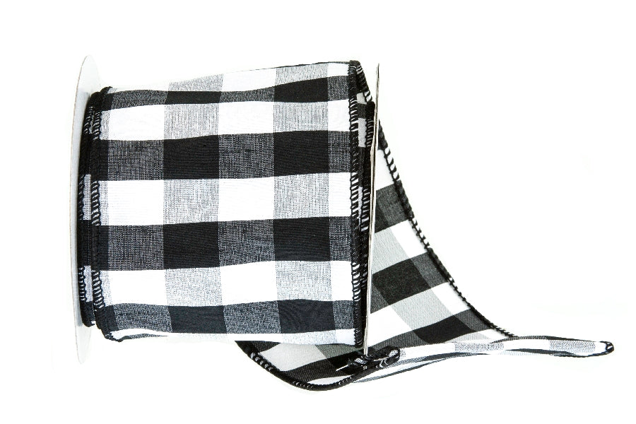 Black And White Checkered Ribbon Paul Michael Company