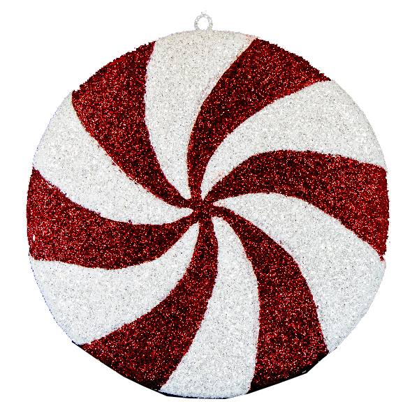 Peppermint Disc Ornament