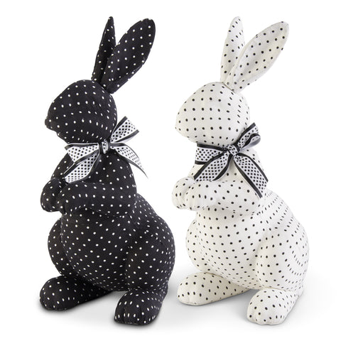 Polka Dot Rabbits with Bows