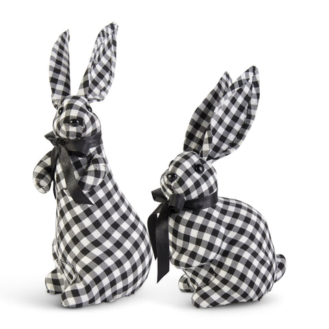 Gingham Bunny with Bow
