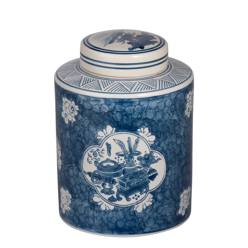 Chinoiserie Ceramic Jar