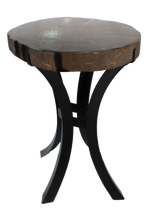 Petrified Wood Side Table w/ Iron Base