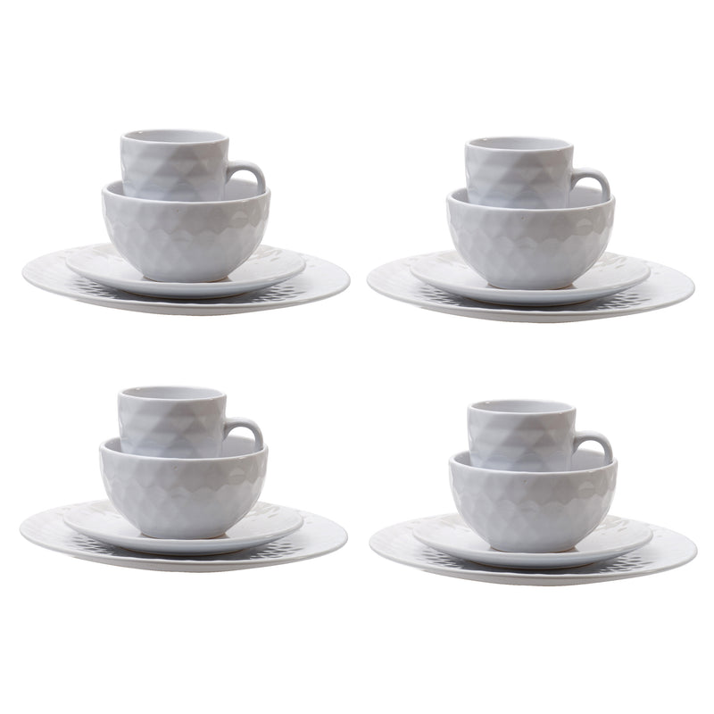 Cream Dinnerware S/16