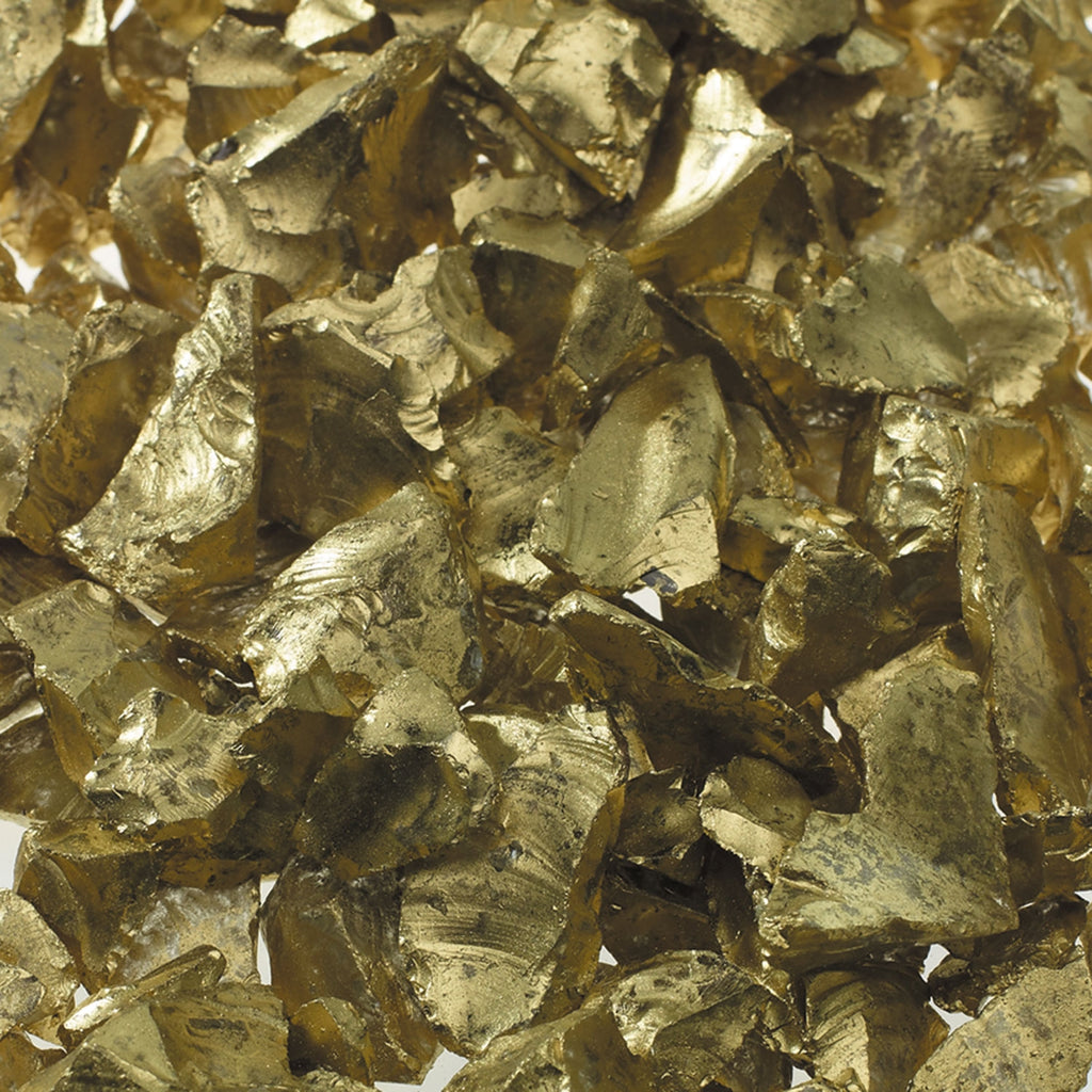Metallic Gold Crushed Glass