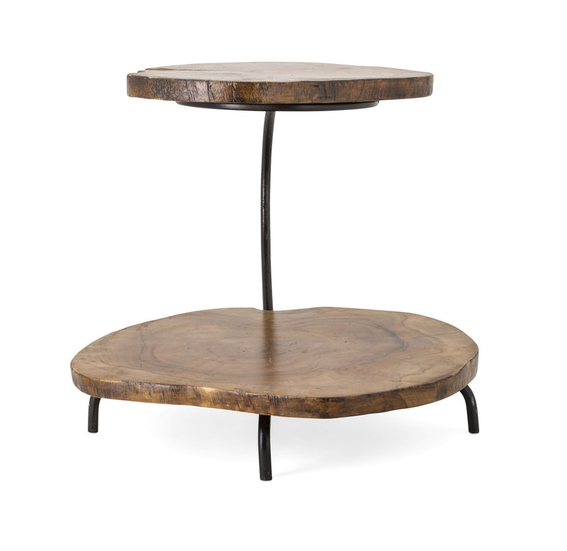 Two Tiered Teak Serving Platter