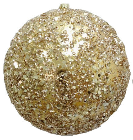 Gold Sequin Ornament