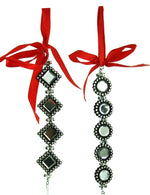 Jeweled Black Rhinestone Ornament