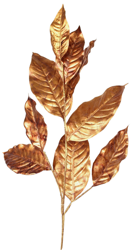 Bronze Magnolia Leaf Spray