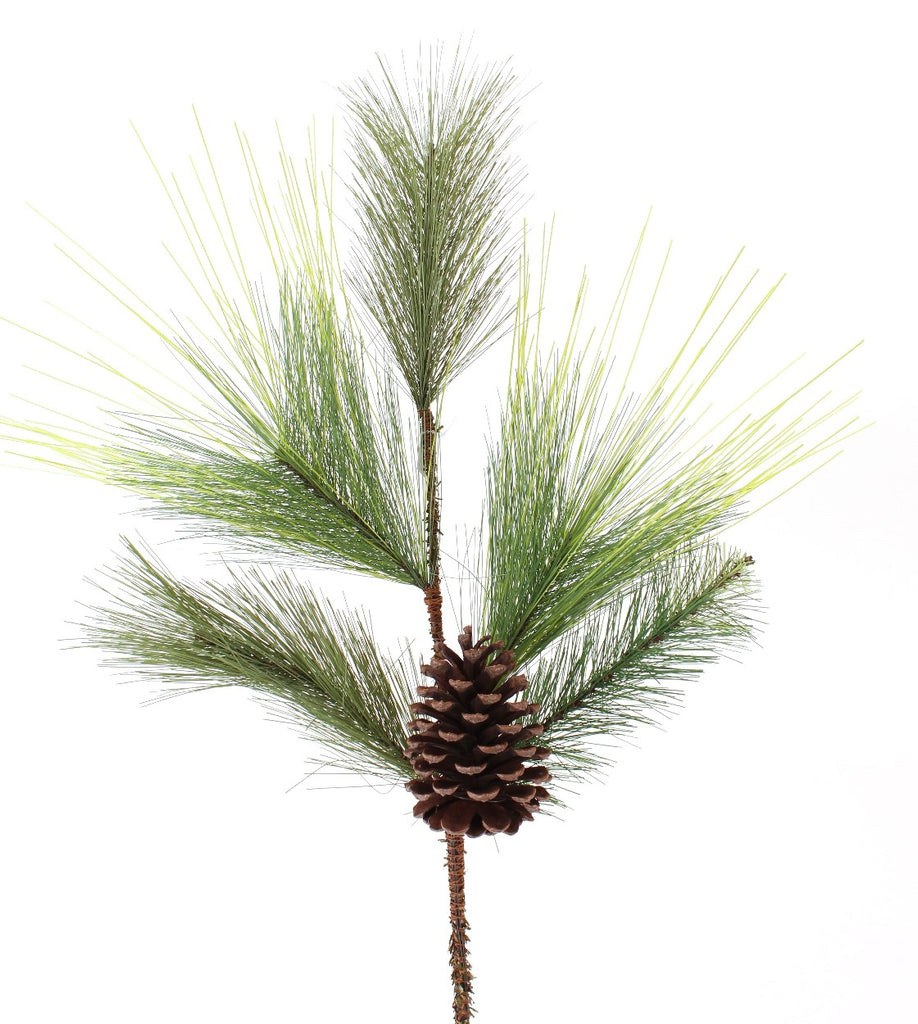 Mixed Pine Leaf Spray with Pinecone