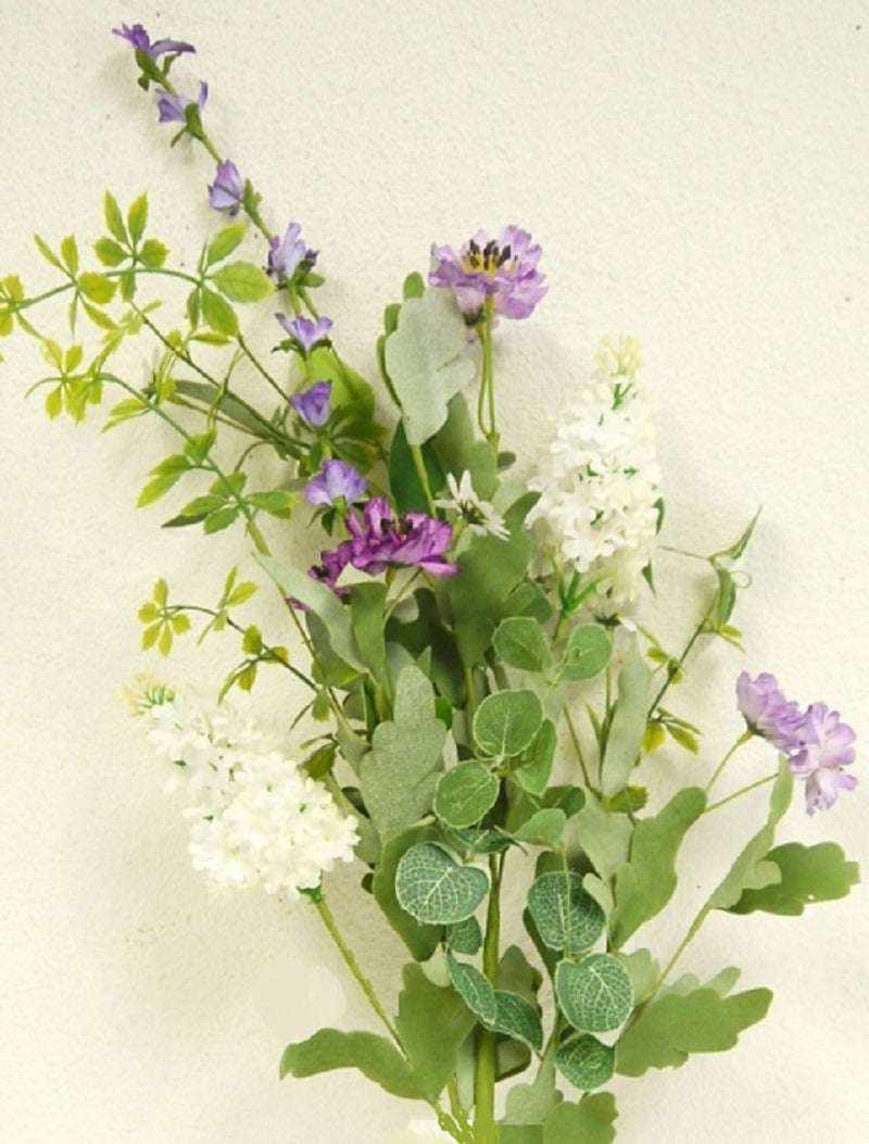 Purple and Cream Wildflower Spray