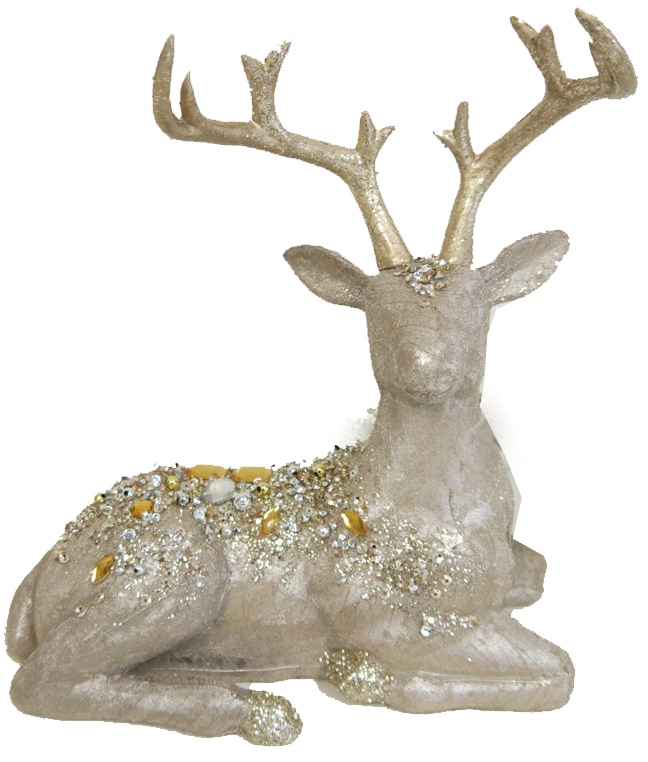 Jeweled Champagne Deer