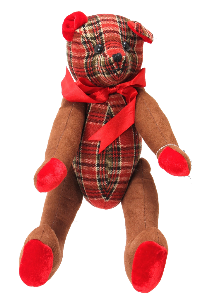 Winter Wishes Plaid Teddy Bear