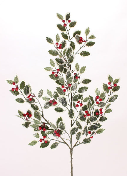 Frosted Holly Berry Spray