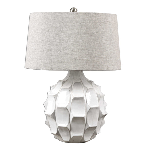 White Scalloped Lamp