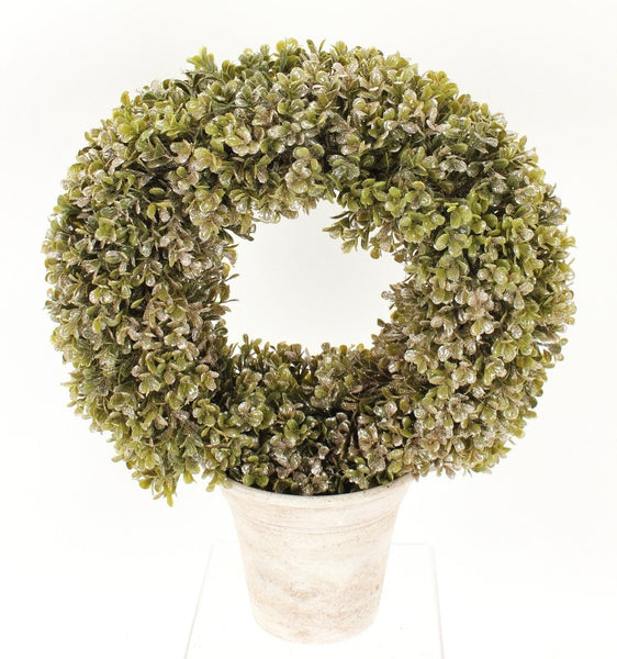 Potted Boxwood Wreath