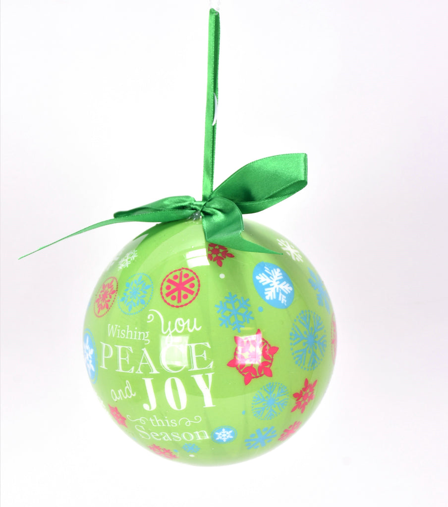 Peace and Joy Whimsical Christmas Ornament