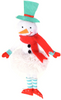 Top Hat Snowman and Tutu Santa Claus