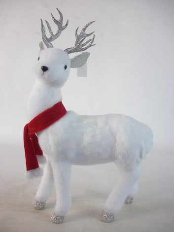 White Deer with Red Scarf