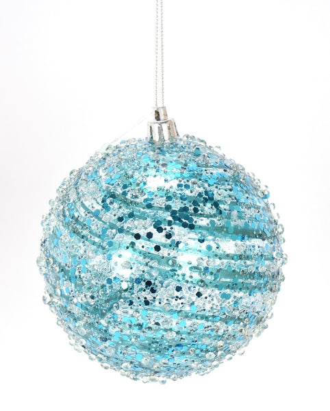 Tiffany Blue Swirl Christmas Ornament
