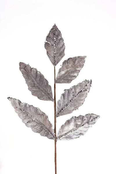 Velvet Magnolia Leaves Spray