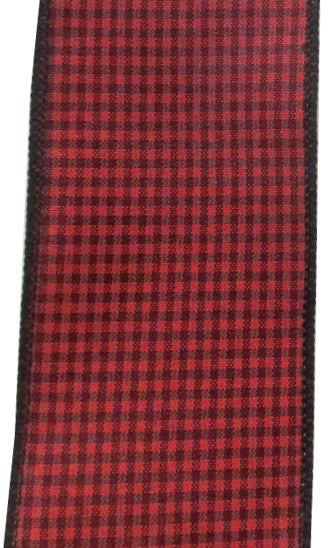 Red & Black Checked Ribbon