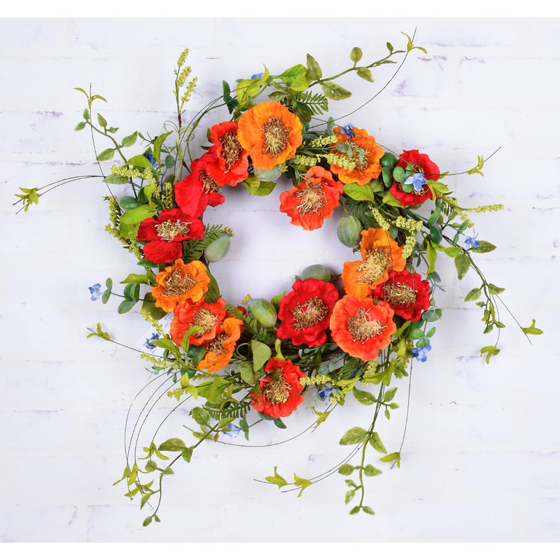Sunshine Poppy Wreath