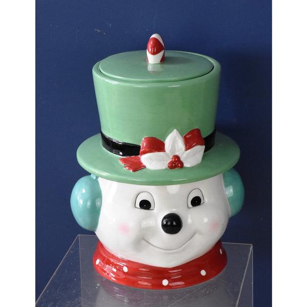 Snowman with Top Hat Jar