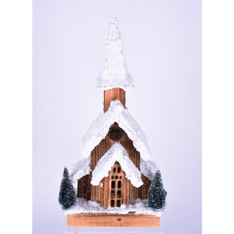 Snow Covered Wood Church