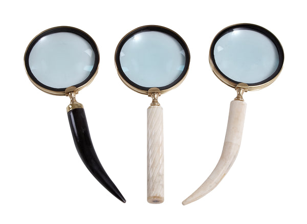 Metal Horn Magnifying Glasses