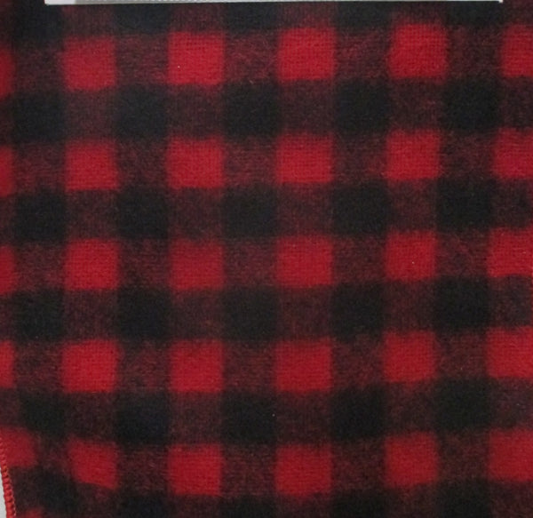 Red and Black Wool Check Ribbon