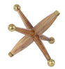 Wooden Jacks with Gold Aluminum