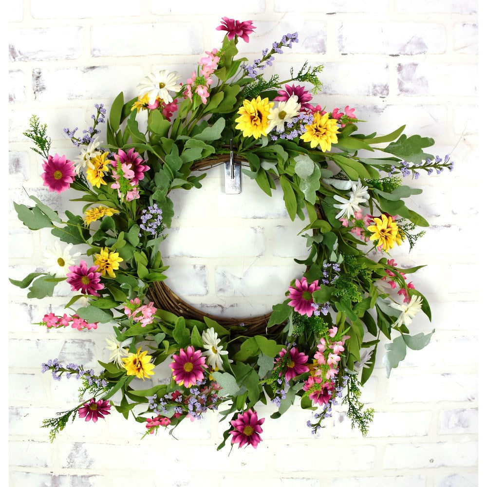 Mixed Daisy Wreath