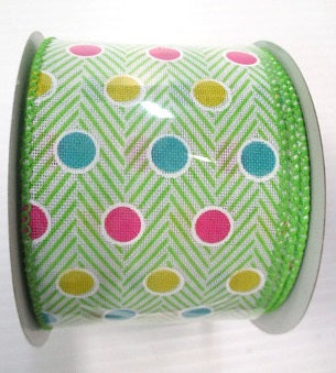 Linen Polka Dot Ribbon